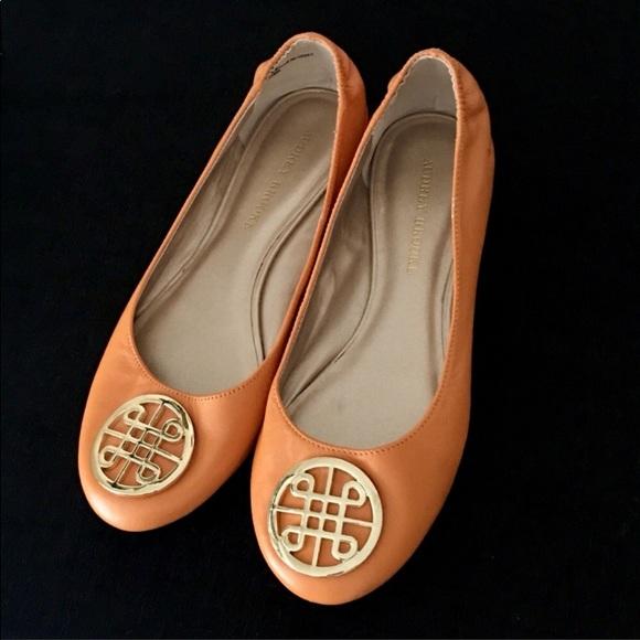 Audrey Brooke Shoes - Audrey Brook Flats.  Orange. 8.5